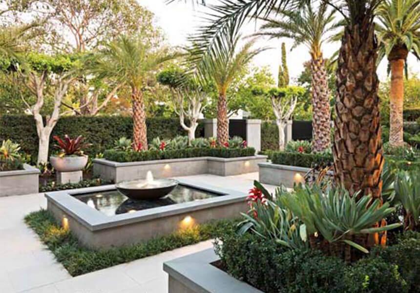 Diseño de paisaje tropical marbella